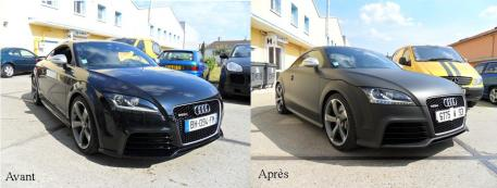 Total covering Audi TT RS